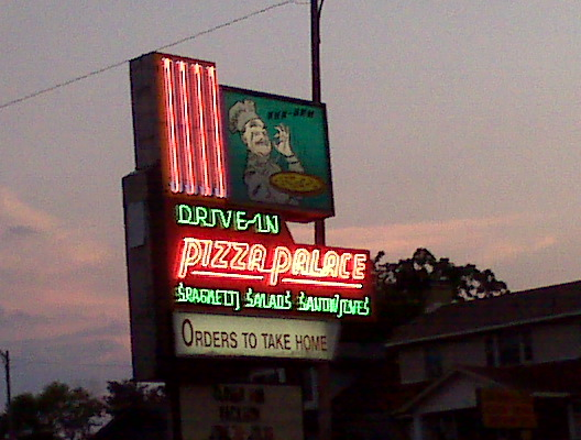 Pizza Palace Sign