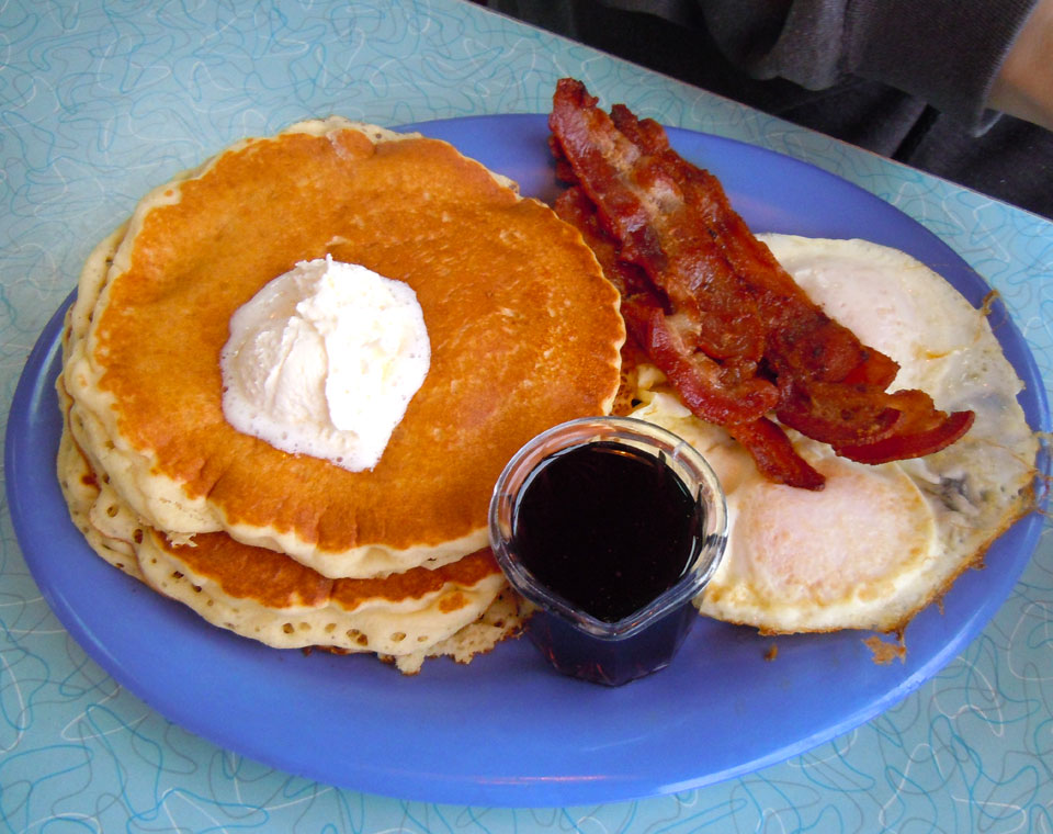 Pancakes, Bacon, Eggs