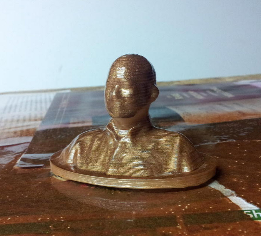 Model Printed and Painted Bronze